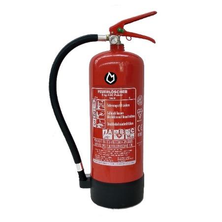 6 kg Pulver-Dauerdruck-Feuerlöscher