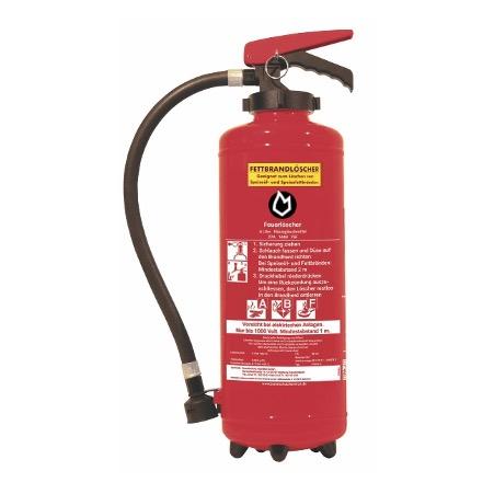 6 ltr. Fettbrand-Auflade-Feuerlöscher