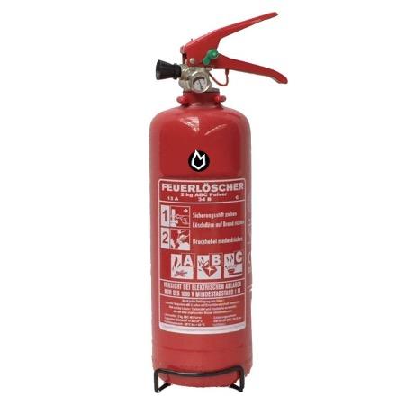 2 kg Pulver Dauerdruck-Feuerlöscher