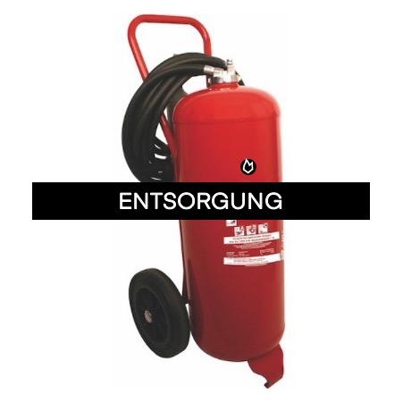 Feuerlöscher Entsorgung-Pulver-Feuerlöscher bis 50 kg