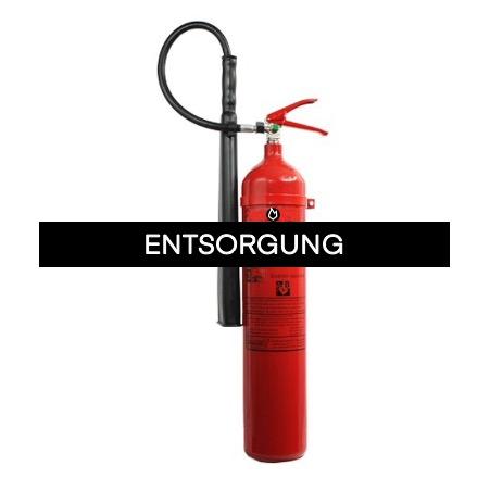 Feuerlöscher Entsorgung - CO2 Feuerlöscher bis 6 kg