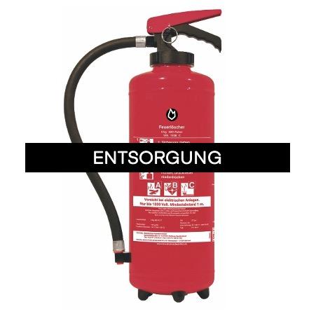 Feuerlöscher Entsorgung-Pulver-Feuerlöscher bis 12 kg
