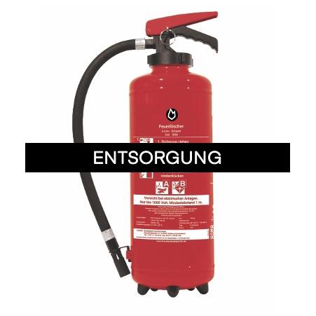 Feuerlöscher Entsorgung-Schaum-/Flüssig-Feuerlöscher bis 12 kg
