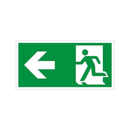 Smybol-Schild: Notausgang links