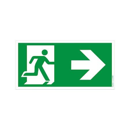 Symbol-Schild: Notausgang rechts