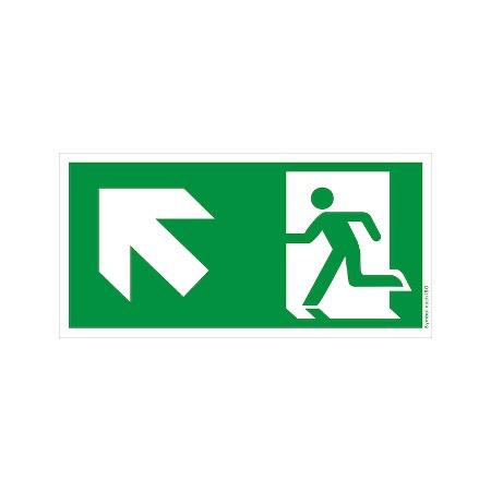 Symbol-Schild: Notausgang links-aufwärts