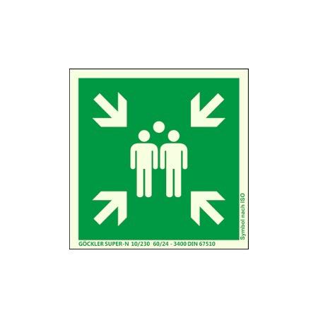 Symbol-Schild: Sammelstelle 200x200 mm