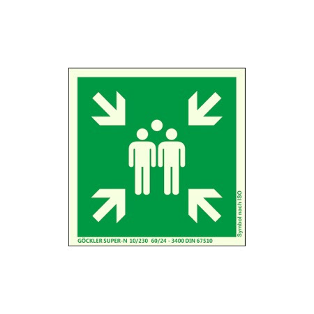 Symbol-Schild: Sammelstelle 400x400 mm